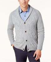 Tasso Elba Men's Crossed Cable-Knit Cardigan, Created for Macy's