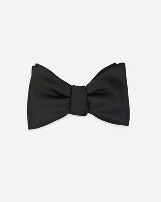 Express Pocket Square Clothing Carlson Black Silk Bow Tie