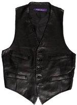 Ralph Lauren Purple Label Leather Button-Up Vest