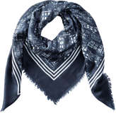 Joe Fresh Women's Fall Print Scarf, JF Midnight Blue (Size O/S)