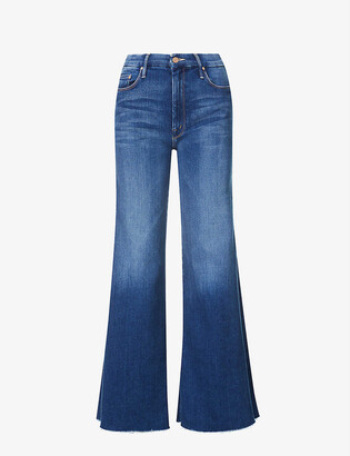 Mother The Roller flared high-rise stretch-denim jeans