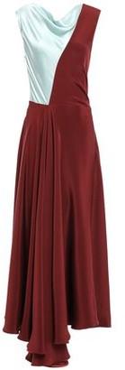 Roksanda Two-tone Silk-satin Crepe Midi Dress