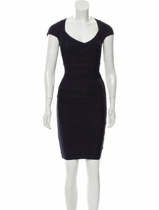 Herve Leger Raquel Bandage Dress Navy