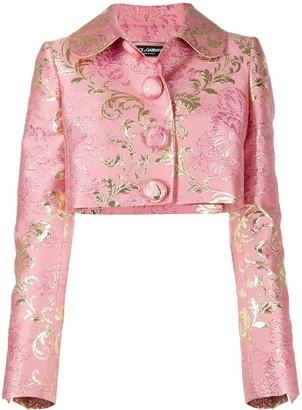 Dolce & Gabbana Floral Jacquard Lame Jacket