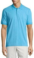 Robert Graham Paisley-Print Short-Sleeve Polo Shirt, Aqua