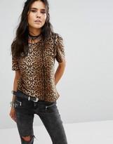 Glamorous Oversized T-Shirt In Leopard Print