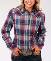 Roper Red Flag Plaid Button-Up