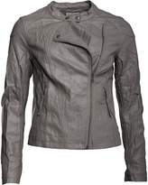 Converse Womens Saida Asymmetric Biker Collar Jacket Charcoal Grey