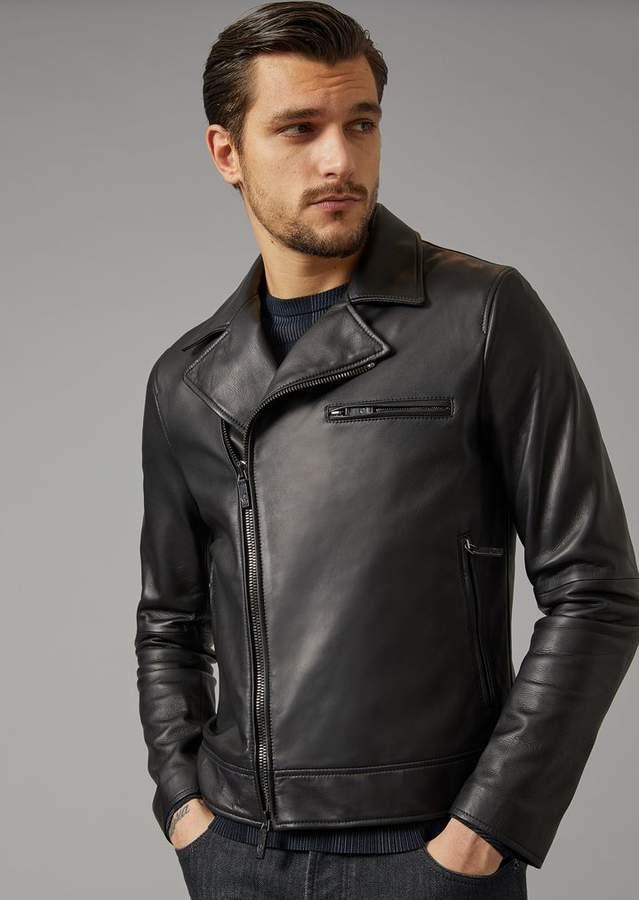 Giorgio Armani Plonge Nappa Leather Jacket