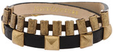 Leather & Watchband Wrap Bracelet