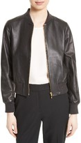 Kate Spade Women's Leather Bomber Jacket