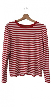 Monki Red Cotton Top for Women