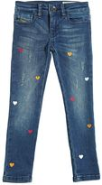 Diesel Heart Printed Ultra Stretch Denim Jeans