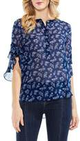 Vince Camuto Ruffle Sleeve Floral Top