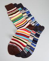 Paul Smith Classic Signature Stripe 3-Pair Men's Sock Set, Multi