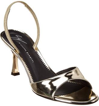 Giuseppe Zanotti Red Carpet Metallic Patent Sandal
