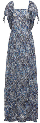 Missoni Gathered Crocheted Cotton Maxi Dress