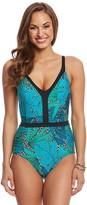 Jantzen Palm Springs V Neck One Piece Swimsuit 8157520