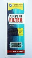 Nordic Air Vent Filters 1 Pack of 12- 4x12 (Register Vent Filters) - by Pure