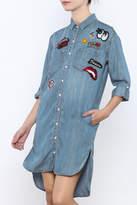 Sneak Peek Patches Tencel Shirt Dress