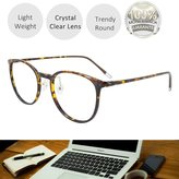 EYEYEE Womens Reading Glasses - Round Shape Light Weight Full Rim TR90 AR Coating(+450)