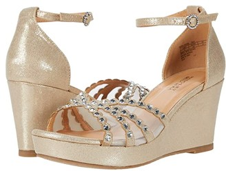 Badgley Mischka Kids Sophia Crystal (Little Kid/Big Kid) (Gold) Girl's Shoes