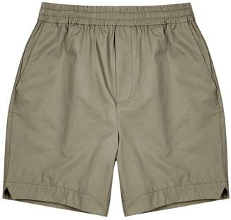 Wood Wood Baltazar army green cotton-blend shorts