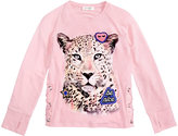 Jessica Simpson Tiger Graphic and Patch Long-Sleeve Shirt, Big Girls (7-16)