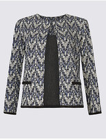 M&S Collection Printed Jersey Jacket