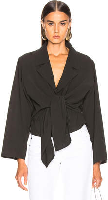 Lemaire Knotted Top in Black Olive Green | FWRD