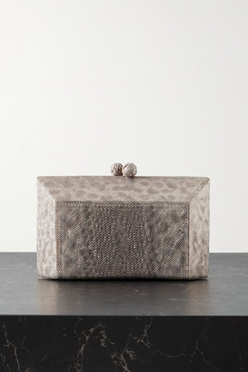 Nancy Gonzalez Gramercy Metallic Watersnake Clutch - Snake print