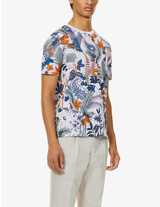 Ted Baker Graphic-print cotton-jersey T-shirt