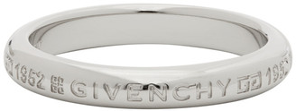 Givenchy Silver Polished Engraved Ring