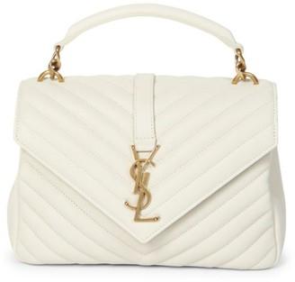 Saint Laurent College Matelasse Leather Bag