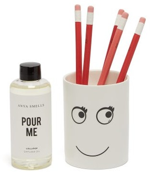 Anya Hindmarch Anya Smells Lollipop Scented Diffuser - White Multi