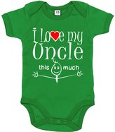 Dirty Fingers, I Love my Uncle this much, Novelty Baby Bodysuit, 12-18m
