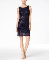 Sandra Darren Petite Sequined Sheath Dress