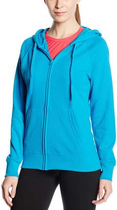 Fruit of the Loom Women's Zip front Lightweight Hooded Sweat Azure 18 (Manufacturer Size:XX-Large)
