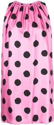 Moschino Polka Dot Printed Mini Dress