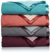 Concierge Collection Reversible Down Alternative Throw with Satin Trim