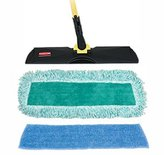 Rubbermaid Mopping Kit, with 18 Frame, 52 Steel Handle, Wet/Dry Pad (RUBQ10120) Category: Wet Mops