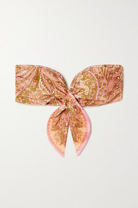 Zimmermann Brighton Scarf Paisley-print Bandeau Bikini Top - Pink