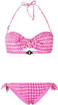 Fendi dogtooth bow detail bikini
