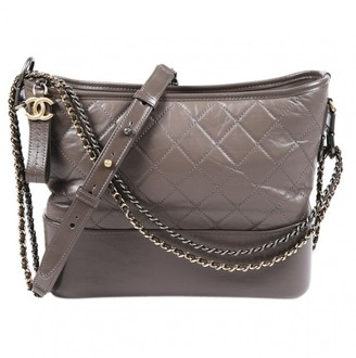 Chanel Gabrielle Grey Leather Handbags