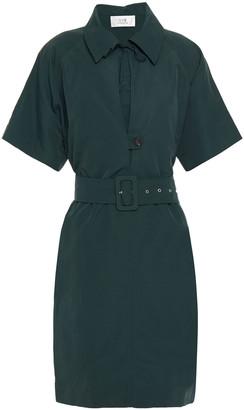 Victoria Victoria Beckham Belted Woven Mini Dress