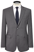 J. Lindeberg Comfort Stretch Wool Slim Suit Jacket, Grey Melange