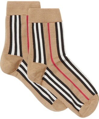 Burberry Icon Stripe Intarsia Ankle Socks