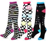 TeeHee Socks TeeHee Novelty Cotton Knee High Fun Socks 3-Pack for Junior and Women