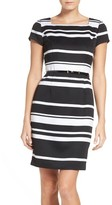Ellen Tracy Women's Stripe Sheath Dress