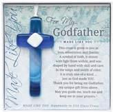 Grandparent Gift Co. The The Grandparent Gift Handmade Glass God Father Cross Frame
